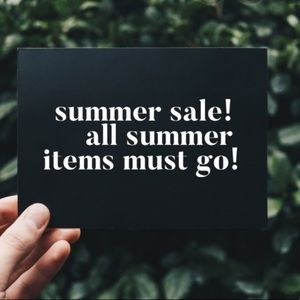 Shorts, rompers, dresses MUST GO